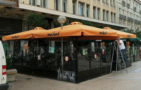 τηλεσκοπική επαγγελματική ομπρέλα Μπαράκος